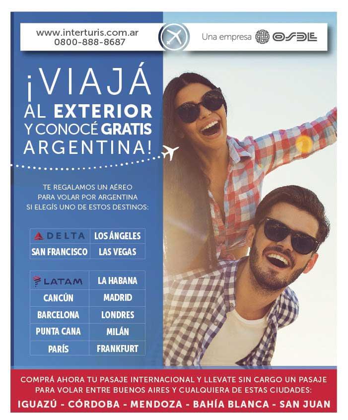 Viajá gratis por Argentina con Interturis
