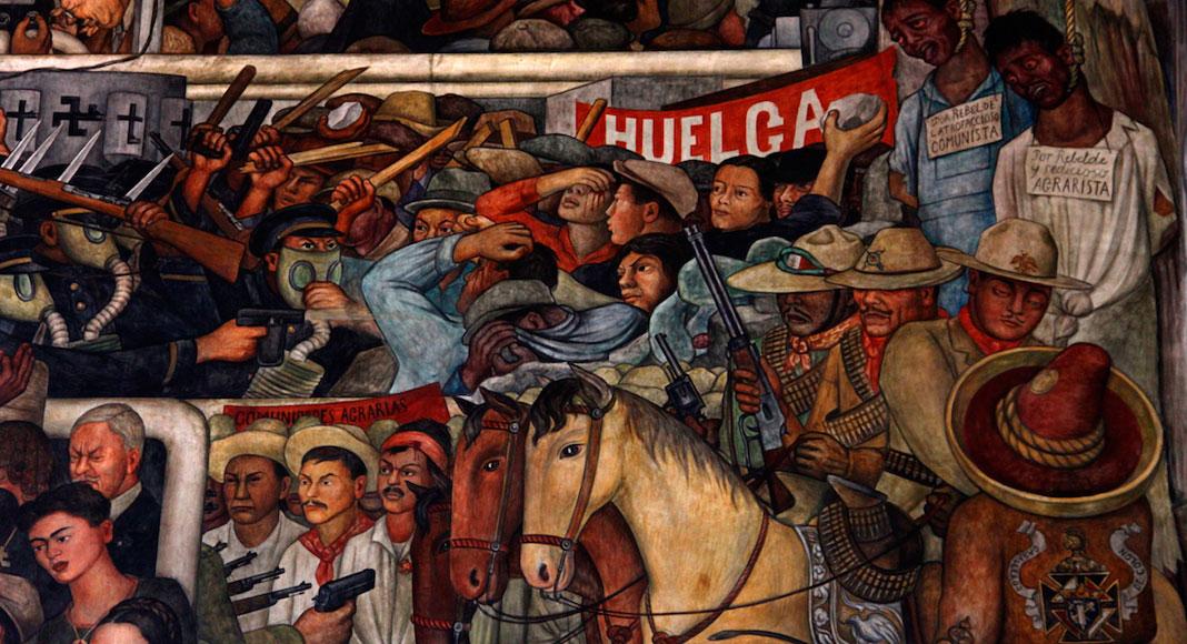 Ciudad de México y sus alrededores - Fragmento de Rivera en el Palacio