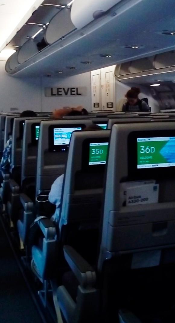 Experiencia level low cost - desde el avion