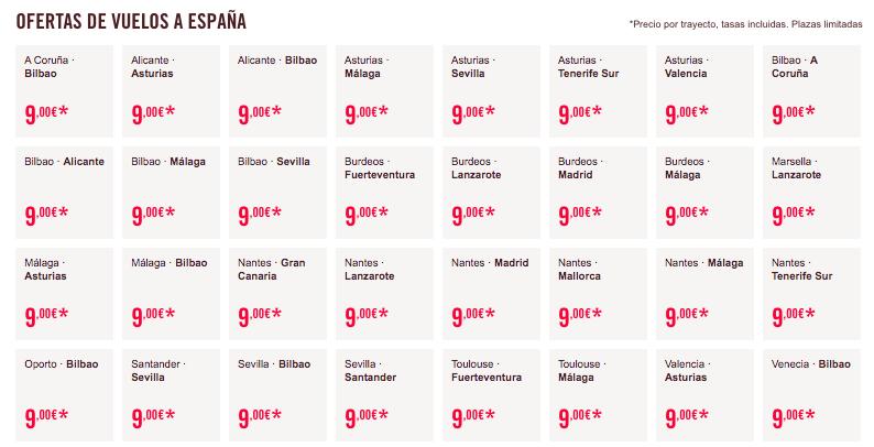 Vuelos low cost España