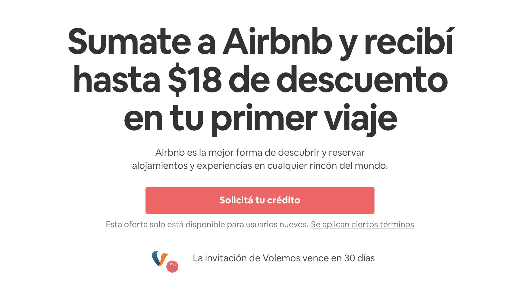 Credito gratis para airbnb