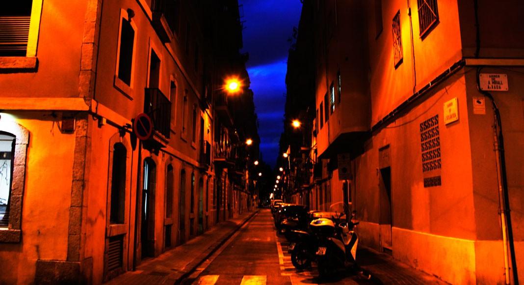 Atardecer en las calles de Barcelona