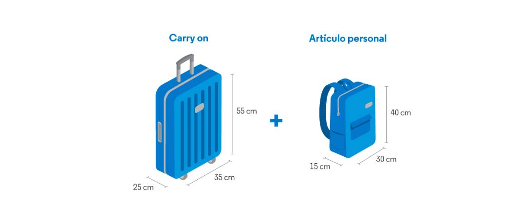 Medidas equipaje de mano Aerolíneas Argentinas