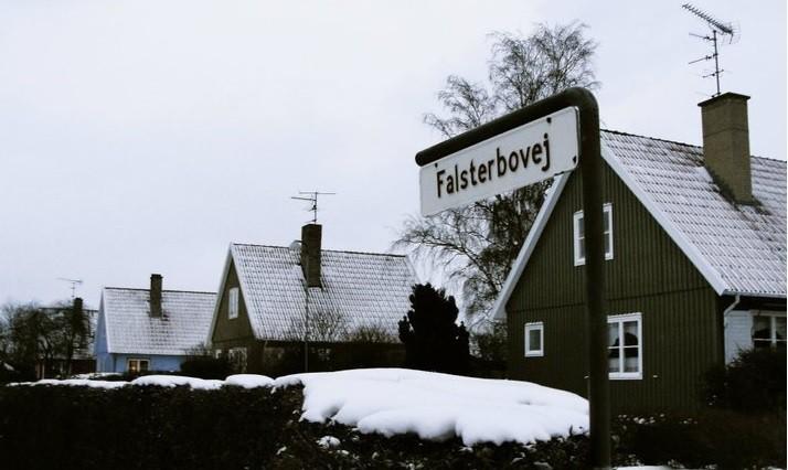 Calle donde se encontraba la casa de los Sørensen en Rønne