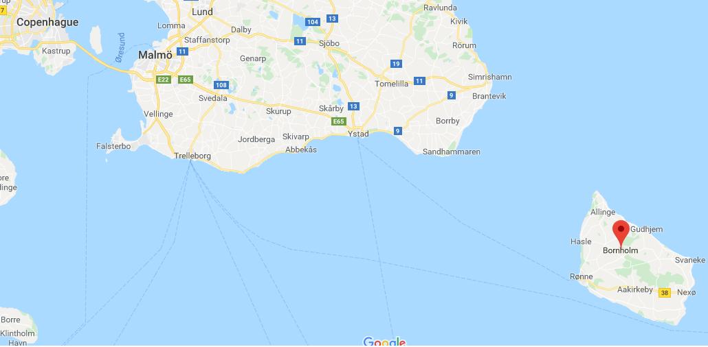 Isla de Bornholm en el báltico
