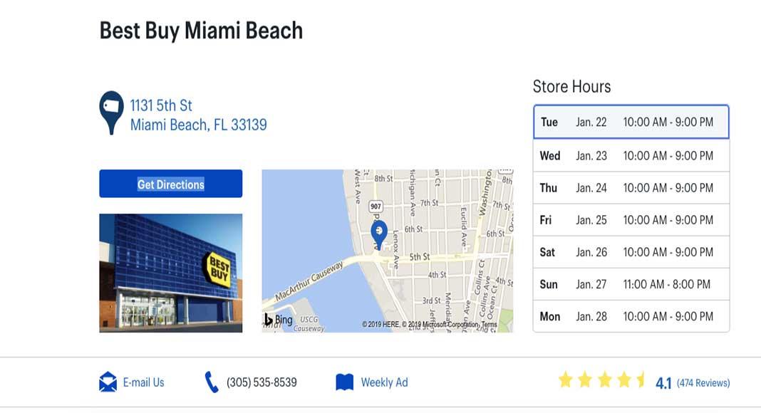 Dónde comprar electrónica en Miami
