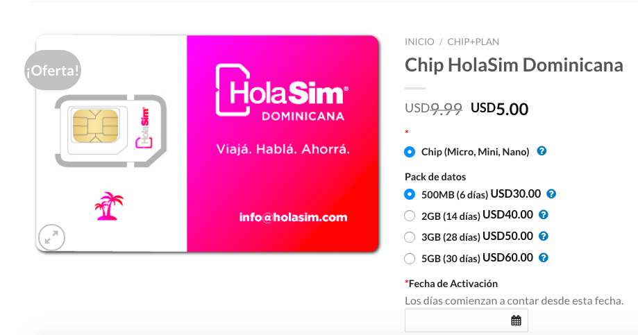 HolaSim Dominicana