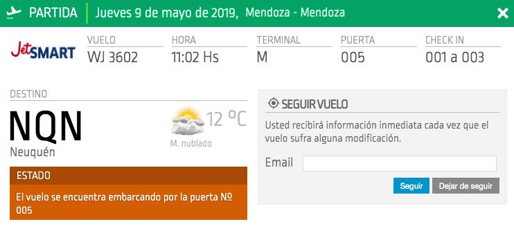 ruta Neuquén – Mendoza