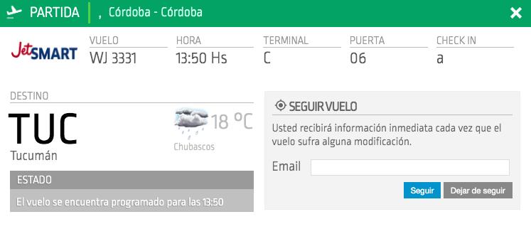 ruta Córdoba – Tucumán