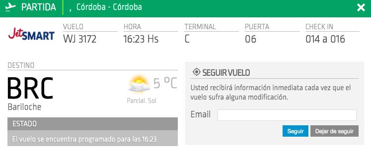 Bariloche - Córdoba