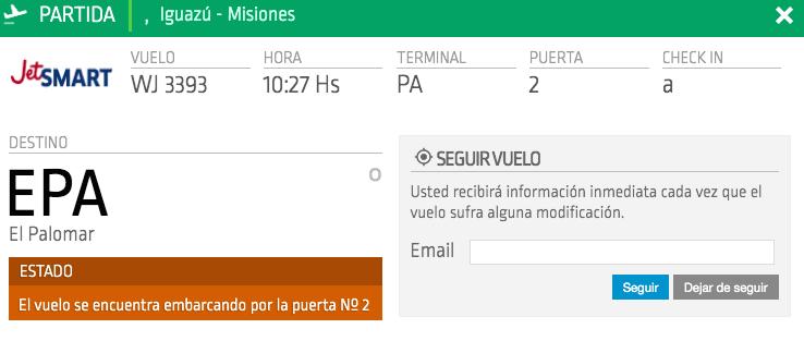JetSmart Vuelo EPA - IGU