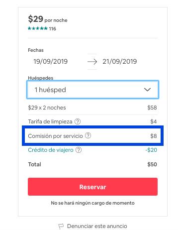 Airbnb elimina las comisiones al huésped