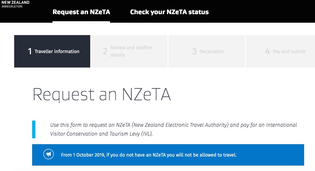 Página de migración de Nueva Zelanda
