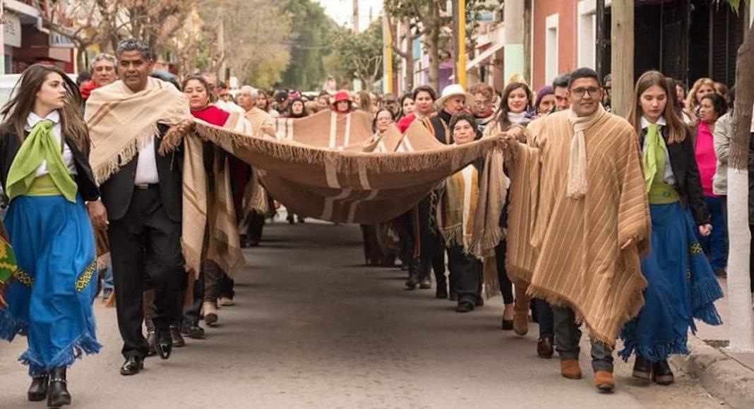 Marcha de los ponchos en Belén