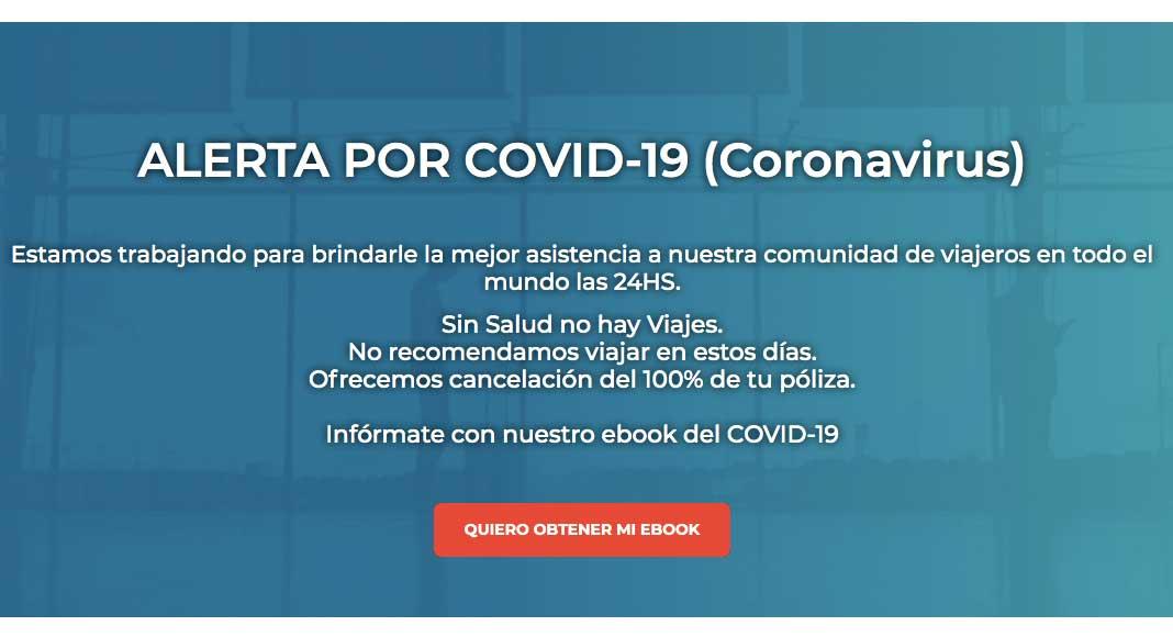 Asistencia de viaje Coronavirus