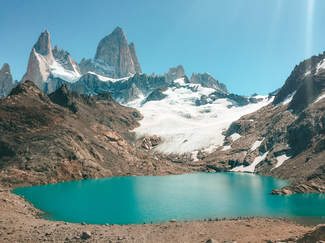 Final del sendero a Laguna Los Tres en El Chaltén