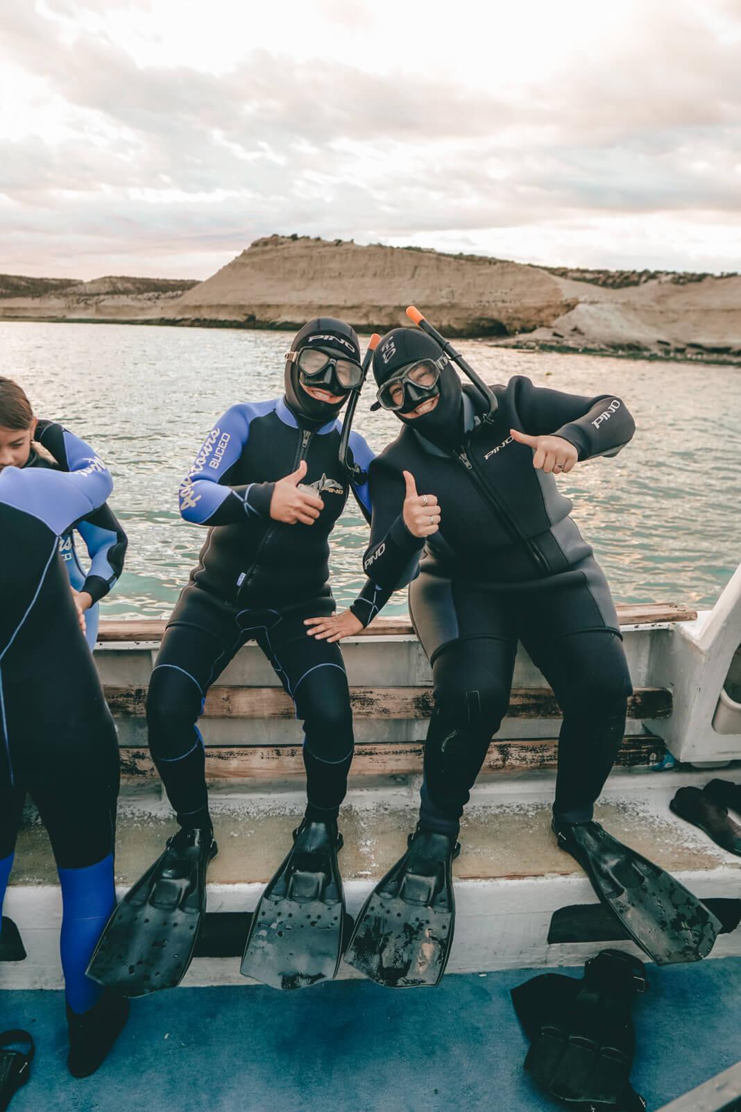 Snorkeling con lobos en Punta Loma, trajes de 7mm