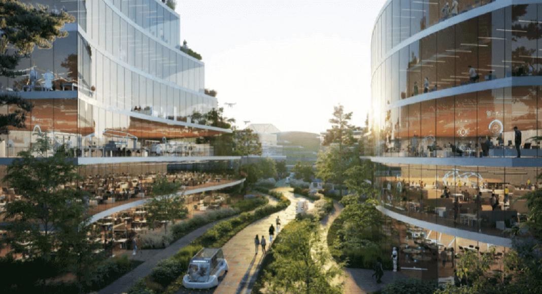 Diseño de ciudad del futuro