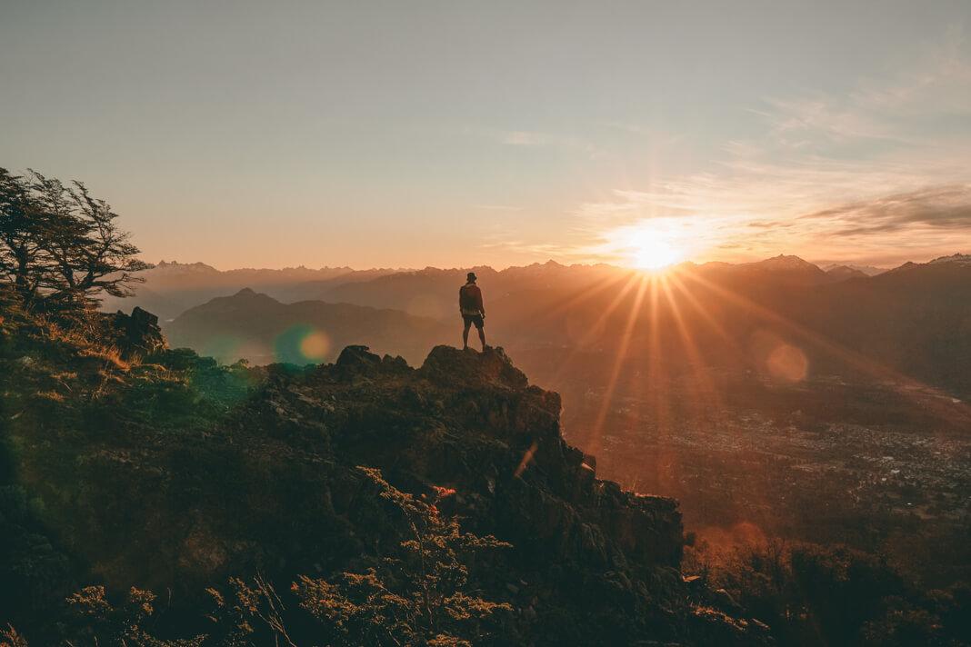 atardecer en el cerro