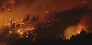 Incendio en la Comarca Andina