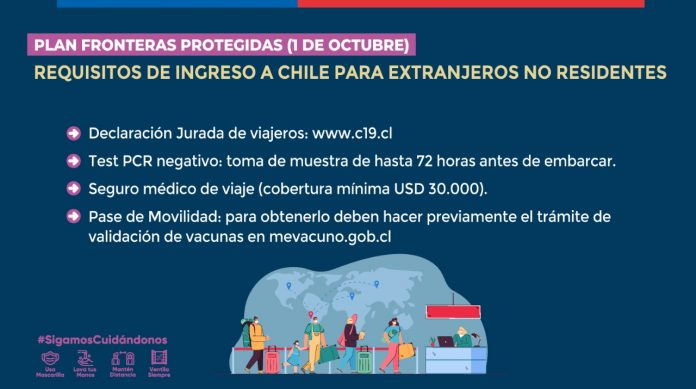 Medidas para viajar a Chile