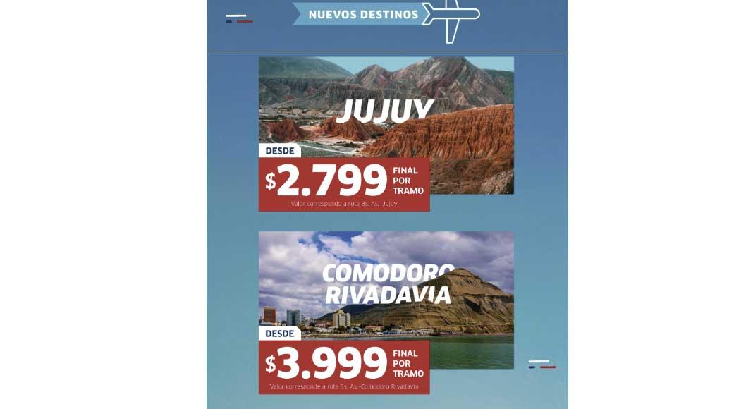 nuevos destinos de Jetsmart